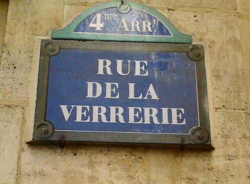 Plaque rue de la V